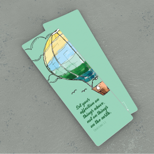 Green Balloon Bookmarker