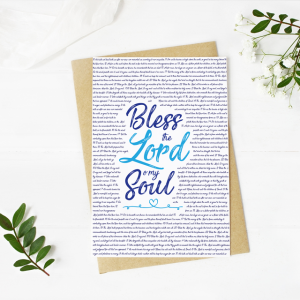 Bless the Lord Blank Card