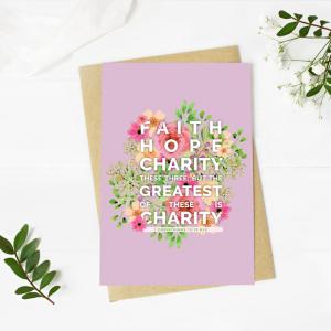 Faith, Hope, Charity Blank Card
