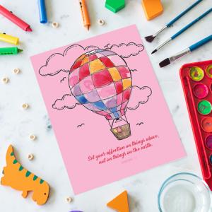 Children's A6 Pink Balloon Notepad