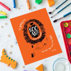 Children's A6 Lion Notepad